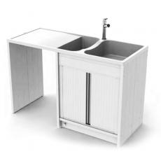 Concept meuble-évier Giga 140 composite PVC