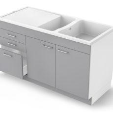Concept meuble-évier Giga 140 mélaminé – Tiroirs